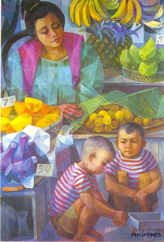 What are some famous works of Vicente Manansala?